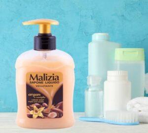 Săpun lichid Malizia Argan & Vanilie 300 ml comprimat